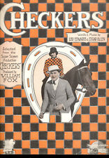 "CHECKERS Sheet Music ""Checkers"" Jean Acker Thomas Carrigan 1919"