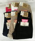 Jeans Donna Pantaloni Cotone LEVI'S Slim Fit Trousers 441 C140 Levis Tg W26 W27