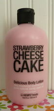HUGE HEMPZ TREATS - STRAWBERRY CHEESE CAKE - DELICIOUS BODY LOTION 18.6 OZ