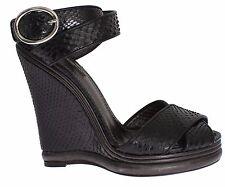 NWT $2500 DOLCE & GABBANA Shoes Python Snakeskin Platform Wedges EU38 / US7.5
