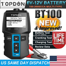 NEW! Car Battery Load Tester Analyzer Cranking Charging Test 6V-12V 100-2000 CCA
