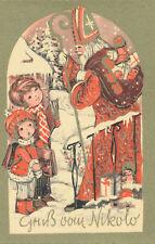 Nikolaus-Karte Gruß vom Nikolo mit Mädchen und Bub   (D38)