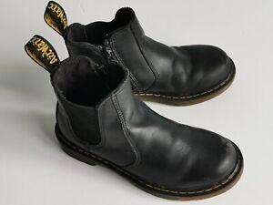Used Dr. Martens Banzai Kids, black, ankle zipped shoes, UK 13/ EU 32