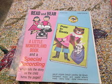 Puss in Boots 1965 Wonderland Records Read & Hear 20 pg book & 45RPM
