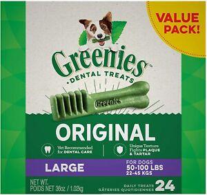 GREENIES Original Large Dog Natural Dental Treats 50 -100 lb. Dogs 4 - 48 Treats