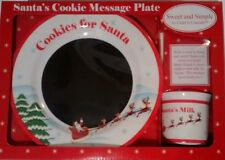NEW  Cookies For Santa Message Plate & Milk Cup  XMAS NEW Chalkboard