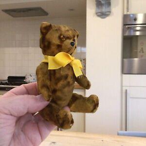 Antique Vintage miniature Bear,hard stuffed silk plush toy teddy bear.