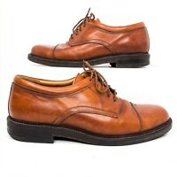 Johnston & Murphy Mens Size 7.5 Passport Brown Lace Up Leather Cap Toe Oxfords