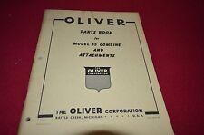 Oliver Tractor 35 Combine Dealer's Parts List Book Manual BVPA