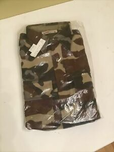 Dead Stock Cabela's Army Camouflage Heavy Shirt Jacket USA sz Med Tall Long Slee
