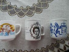2 QUEEN SILVER JUBILEE MUGS AND 1 DIANA AND CHARLES MARRAGE MUG NEW