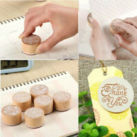 Vintage Retro Style Wooden Rubber Stamp stamper Scrapbooking Seal DIY Set
