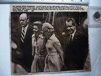 Vintage AP Wire Press Photo 1974 Watergate Nixon Pres Ford Escort Nixon Helicopt
