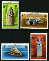 GUERNSEY 1977 PREHISTORIC MONUMENTS SET OF ALL 4 COMMEMORATIVE STAMPS MNH