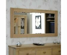 Contemporary Natural Solid Rohan Oak Frame Wall Mirror 1500mm x 750mm Sealed