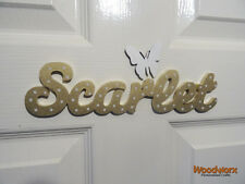 Personalised Names Wooden Name Plaques / Door Sign / Bedroom Sign 1 Butterfly#19