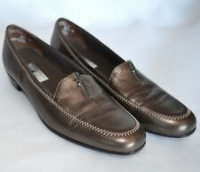 Munro American Lauren Shoes Womens 8 M Loafer Slip On Metallic Leather Pumps