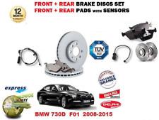 para BMW 730d F01 2008- > delante + Juego freno disco trasero + pastillas+
