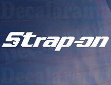 STRAP-ON Funny Novelty Rude Toolbox/Car/Van/Window/Bumper Vinyl Sticker/Decal