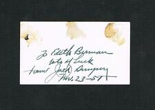 EXTREMELY RARE JACK DEMPSEY autographed personal business card boxer boxing