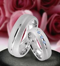 Trauringe  Eheringe Verlobungsringe mit echten Blautopas , Silber 925 , J9-3B