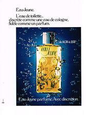 PUBLICITE ADVERTISING  1972   EAU JEUNE   eau de toilette  PARFUM