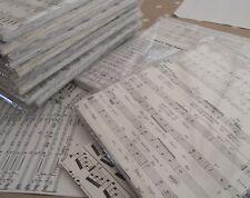 200 A5 Sheets Reclaimed Paper Decoupage - Music Manuscript