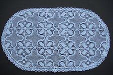 Deckchen Servierwagen o.ä. ca. 37 x 22 cm oval weiß BWmischg./Polyester wie NEU