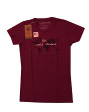 World Minded Be World Minded tee t-shirt Mulberry XL Organic Cotton New