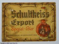Unused 1950s Germany Schultheiss Export Spezial Bier Label