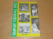 1973 NORTHWEST MISSOURI STATE COLLEGE FOOTBALL MEDIA GUIDE NEAR MINT BOX 19