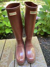 Women's Tall Original Hunter Rain Boots In Red Size 40/41 9 EUC