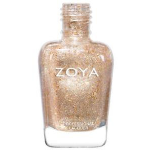 ZOYA ZP951 NAHLA iridescent-holo gold nail polish topper SUNSHINE Collection NEW