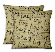 S4Sassy Floral Love Printed Sofa Cushion Cover Pillow Case 2Pcs-TX-514L