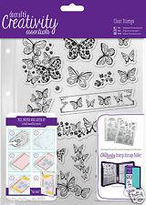 Docrafts Papermania assorted Butterflies A5 stamp 16 set + storage folder pocket