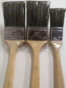 "Long Handle Radiator 3 Brush set 2x 2.5"" (63.5mm) 1x 1.5""(38.1mm) Pure Bristle"