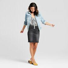 Women's Denim Mini Skirt - Universal Thread - Black - Pick Your Size