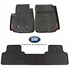 15-17 GMC Canyon Crew Cab Premium All Weather Front & Rear Floor Mats Black OEM