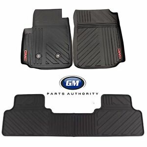 2015-2020 GMC Canyon Crew Cab All Weather Front & Rear Floor Mats Black OEM GM