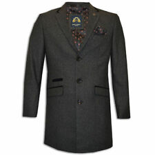 Polyester Button Blazers Long Coats & Jackets for Men