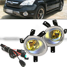 For 07-09 Honda CR-V CRV Yellow Fog Lights Front Bumper Lamps w/Wiring+Switch