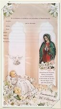 20 invitationes  en español para bautizo/20 Baptism invitation /envelope