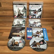Assassin's Creed III 3 & Assassin's Creed IV 4 Black Flag Sony PlayStation 3