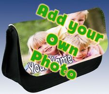 Personalised Add Your Own Image Photo Portrait Pencil Case Make Up Small Bag !