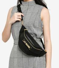 Love Moschino Jacquard Waist Pouch Black Belt Bag
