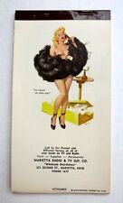 Original November 1955 Pin Up Girl Notepad by Joyce Ballantyne Gorgeous Blond