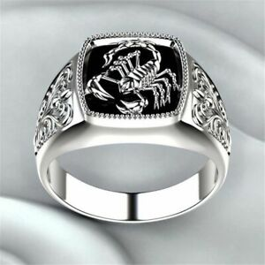 Alloy Gothic Style Ring Punk Party Accessories Scorpion Pattern For Men Male