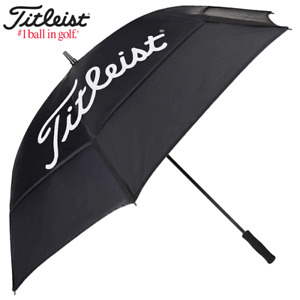 """TITLEIST DOUBLE CANOPY GOLF UMBRELLA / 68"""" WIND RESISTANT GOLF BROLLEY"""