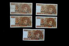 LOT DE  5 BILLETS 10 Francs BERLIOZ TYPE 1972  année 1974 avec 1W