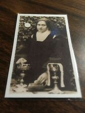 St. THERESE THE LITTLE FLOWER Pocket Laminated Relic Card w/prayer.
